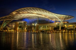 Puerto Rice Convention Center at night